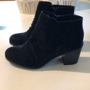 Like new black suede booties